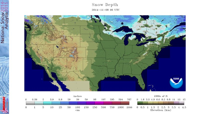 Snow cover 11/7