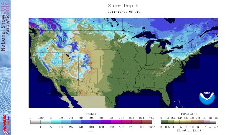 Snow cover 12/14
