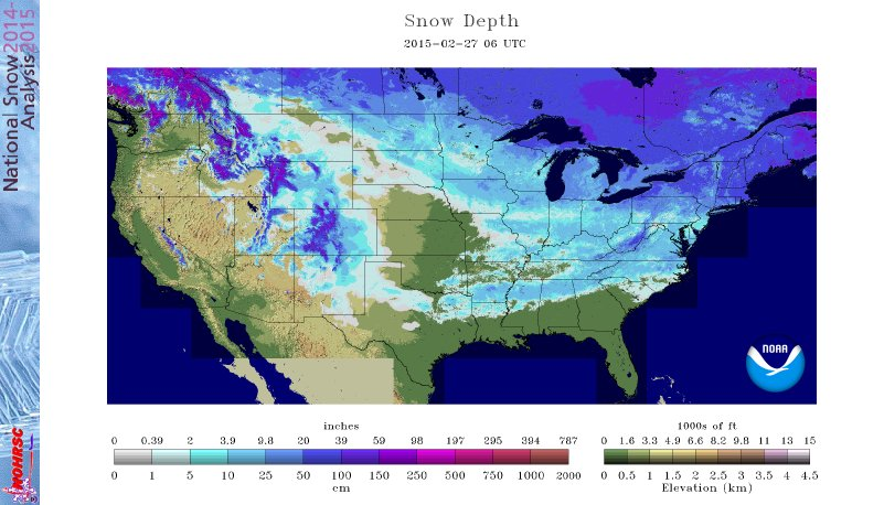 Snow cover 2-27