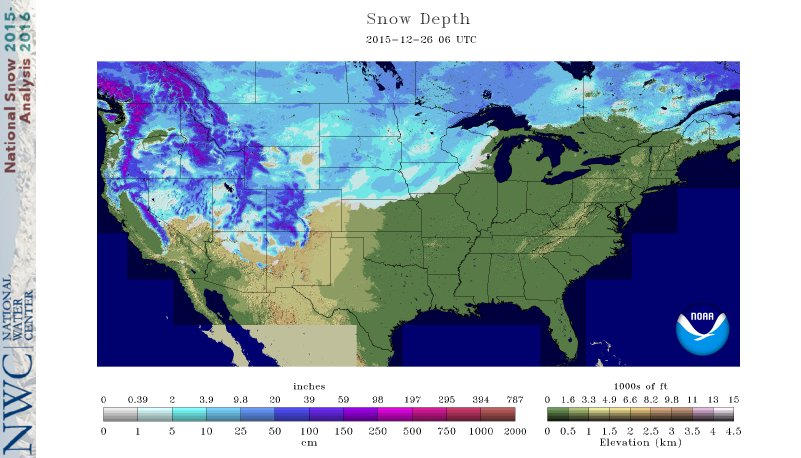 Snow depth maps show Pacific Northwest has become the powder capital ...