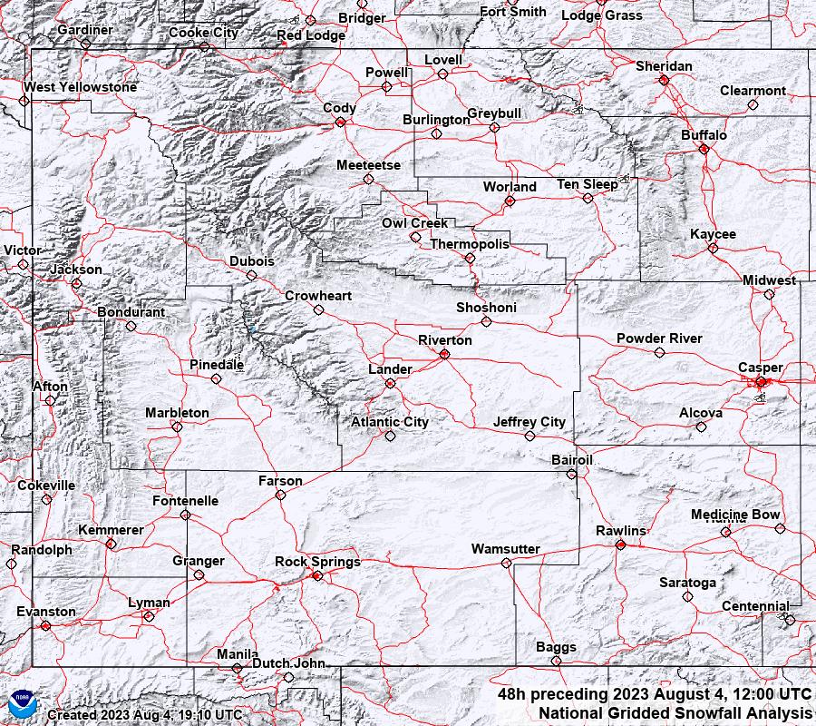 48 Hour Snowfall Analysis