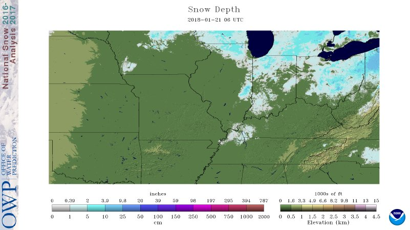 National Snow Cover Map