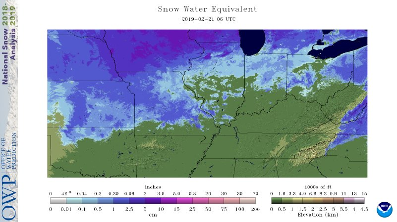 Current snow water equivalent