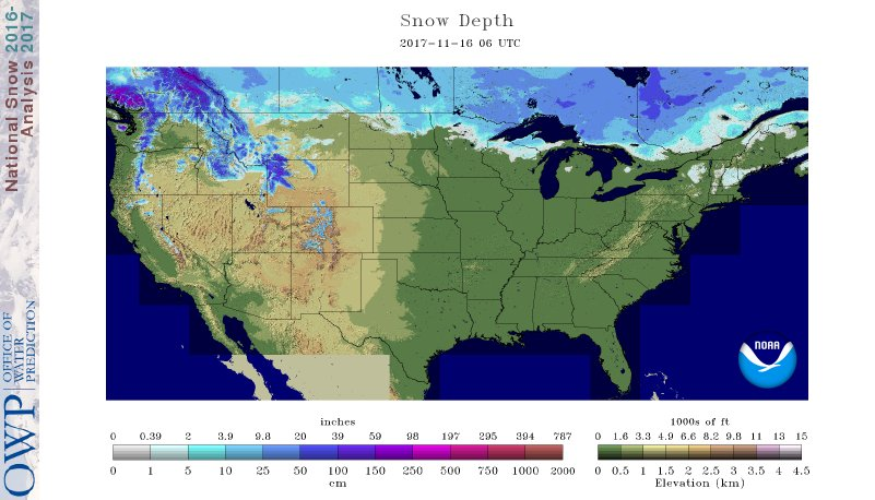 Thumbnail Image Of Modeled Snow Depth