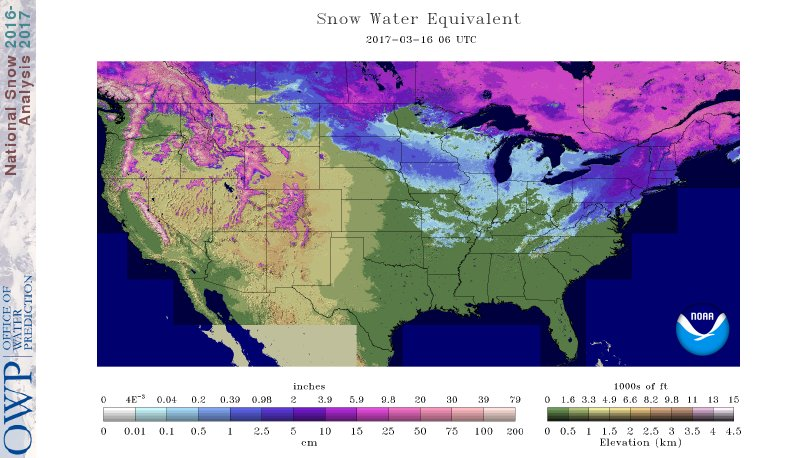 Thumbnail image of Snow Water Equivalent