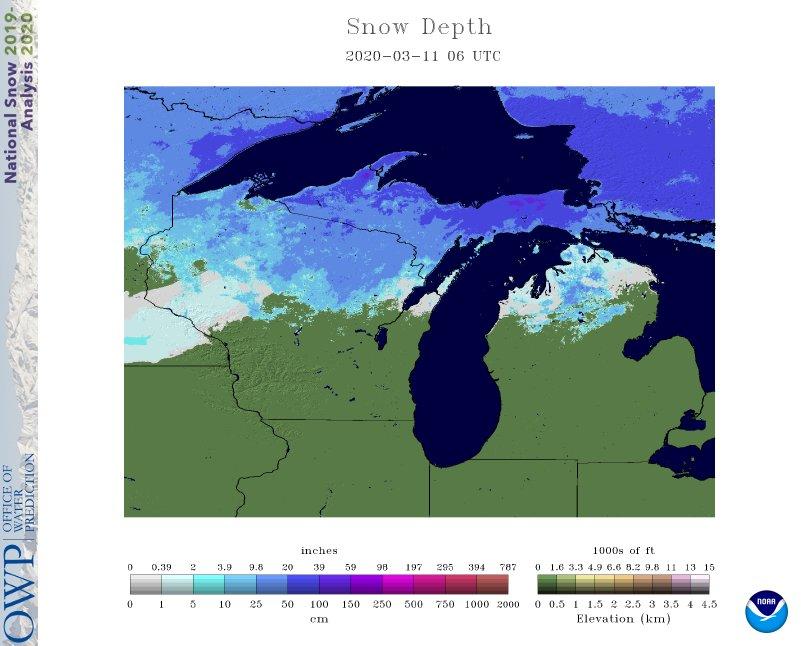 Current Modeled Snow Depth