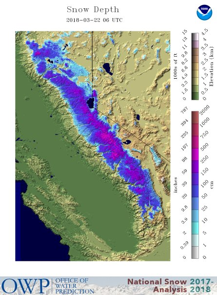 National Snow Analyses NOHRSC The Ultimate Source For Snow - Current Us Snow Cover Map